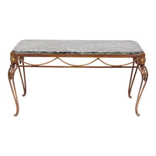 Vintage Italian Style Gold Coffee Table