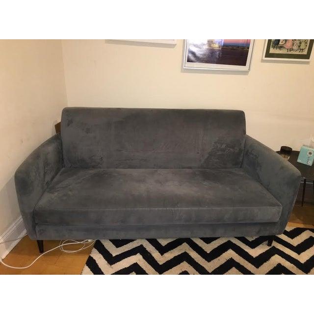Dark Gray Cb2 Apartment Sofa Chairish