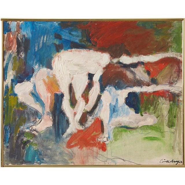 """Emilo Cruz, """"Figures in a Landscape"""" - Image 1 of 3"""