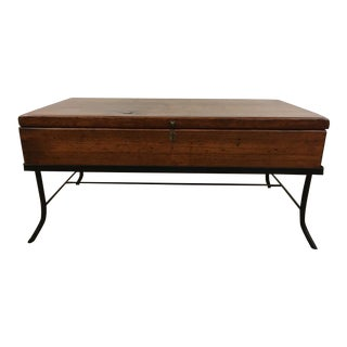 Contemporary Wood Trunk Top Coffee Table
