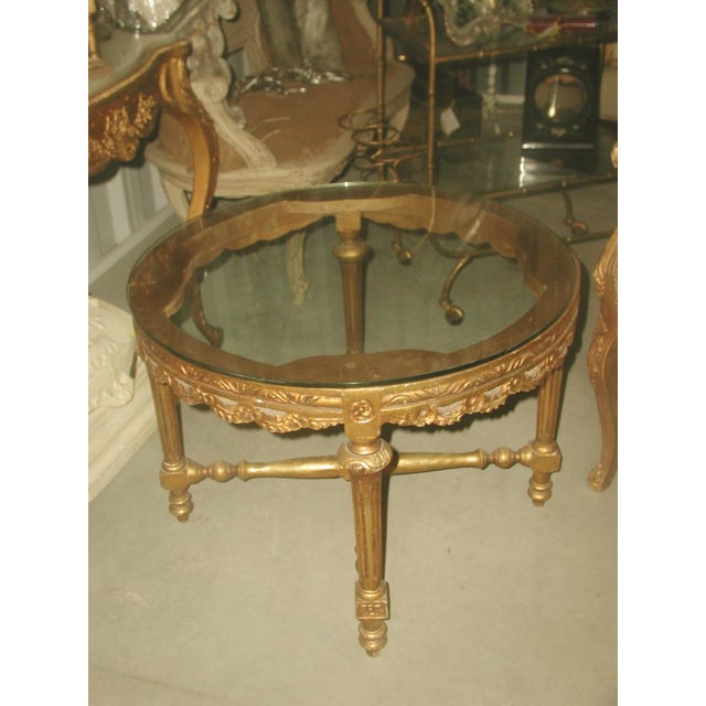 Image of French 19th C. Hand Carved Gilt Coffee Table
