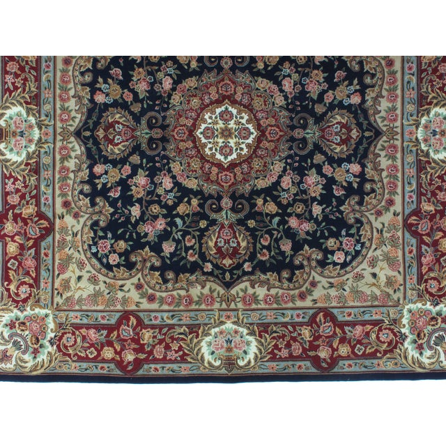 Square Sino Persian Carpet - 8′ × 8′1″ - Image 7 of 8