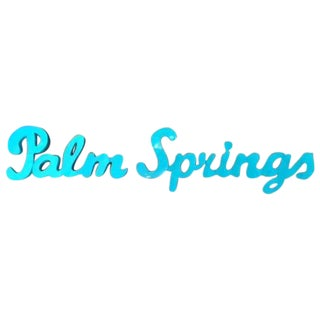Industrial Blue Palm Springs Metal Sign
