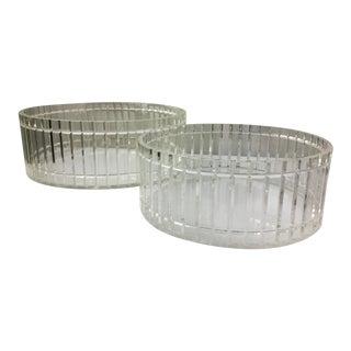 Scalloped Design Lucite Bowls - A Pair