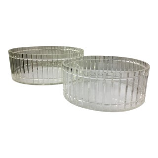 Scalloped Design Lucite Bowls - A Pair