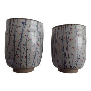 Handmade Japanese Ceramic Tea Cups - A Pair