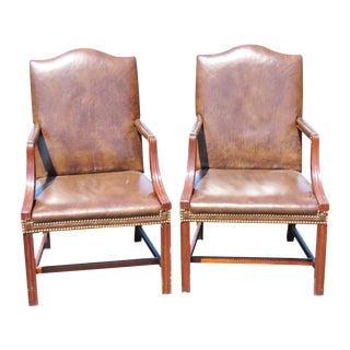 Directiore Style Arm Chairs- A Pair