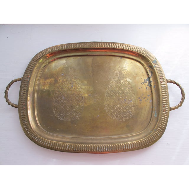 Vintage Brass Pineapple Tray - Image 2 of 5