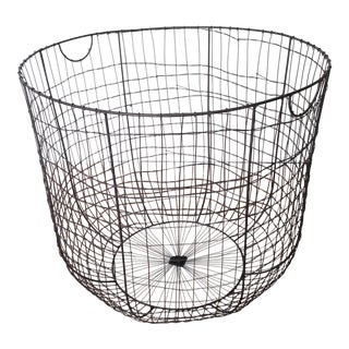 Large French Wire Laundry Basket