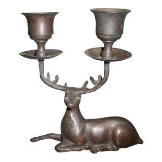Brass Deer Antler Candle Holder