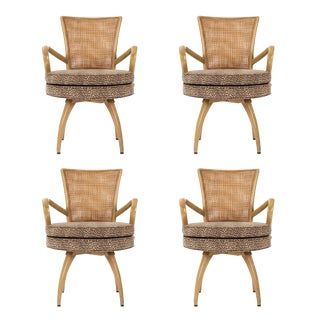 Set of Swivel Chairs in the Style of Tommi Parzinger