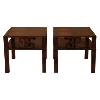 Mid-Century James Mont Style End Tables - A Pair