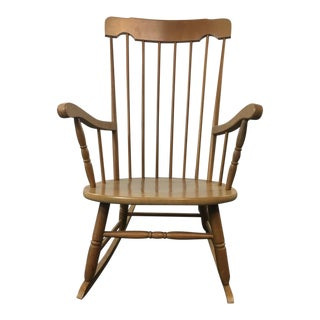 Carved Wood Rocking Chair