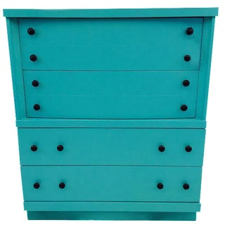 Aqua Hand Painted Blue Dresser