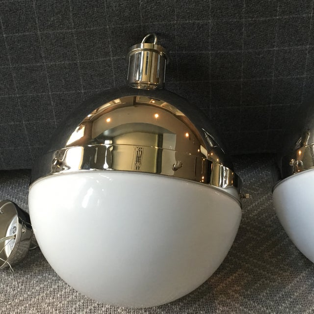 Visual Comfort Hicks Globe Pendants - A Pair - Image 3 of 6