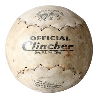"""Vintage deBeers and Sons Clincher 16"""" Softball"""