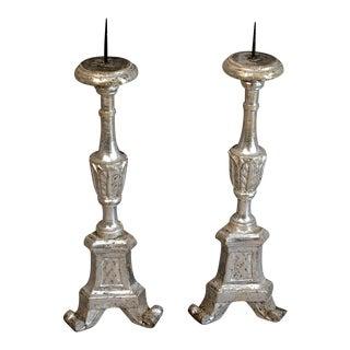 Italian Silver Leaf Candlesticks (#83-64)