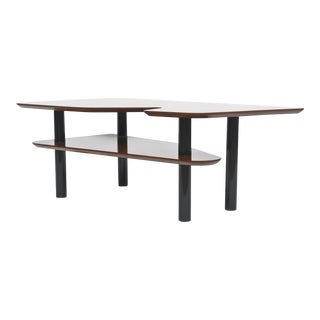 Italian Modern Mahogany and Ebonised Low Table, Style of Ponti