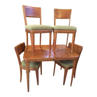Mid-Century Modern Heywood Wakefield Jr. Champagne Dining Set for Four