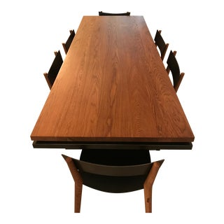 """Miles & May Furniture Works """"Miles"""" Table & 6 Chairs"""