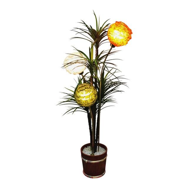 Mid Century Spaghetti Spun Lucite Palm Tree Lamp - Image 1 of 8
