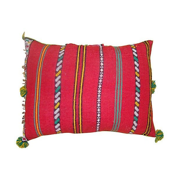 Moroccan Sham with Green & Pink Diamonds - Image 2 of 2