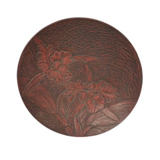 Lacquer Asian Motif Trays - A Pair