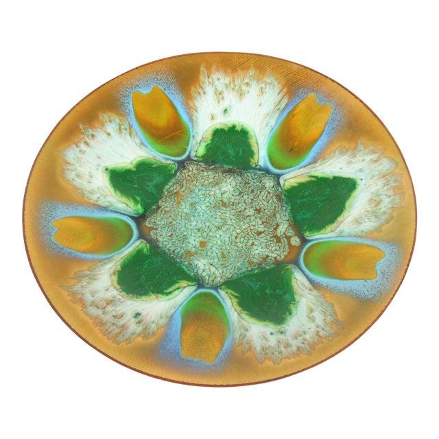 Edwards Star Enamel on Copper Dish - Image 1 of 5