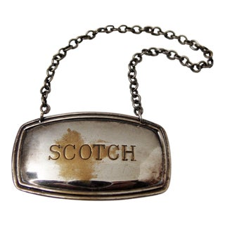Scotch Silverplate Liquor Hanging Lable Tag