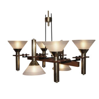 Six-Light Stilnovo Chandelier