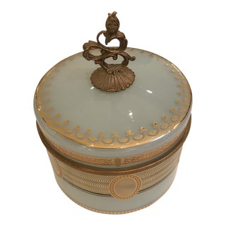French Glass & Brass Canister