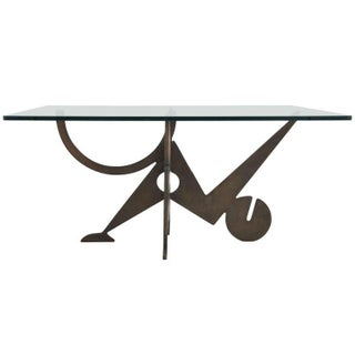 Bronze and Glass Coffee Table by Pucci De Rossi