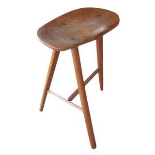 Wharton Esherick-Style  Oak Stool