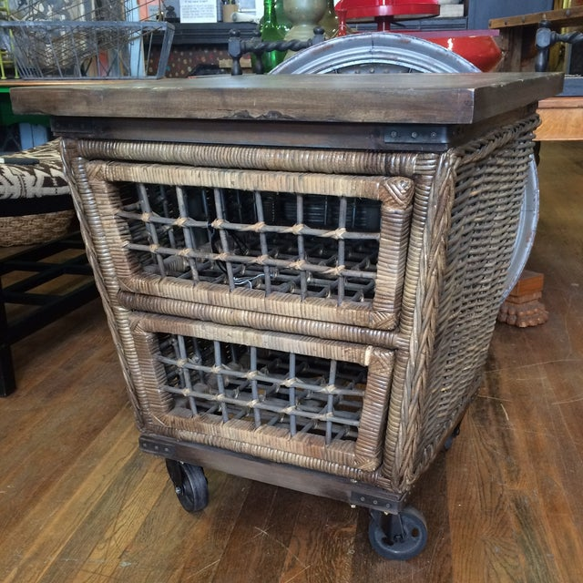 Wicker Moveable Bedside Table - Image 2 of 11