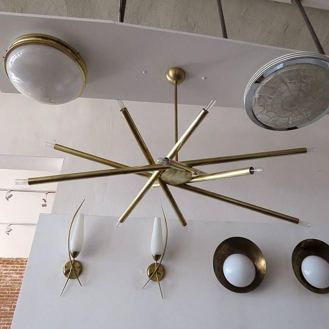 Raw Brass & Spiral Chandelier - Image 7 of 11
