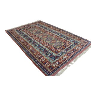 "Traditional Turkish Wool Rug - 6'4"" x 9'2"""