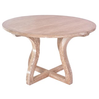 Cerused Oak Round Dining Table