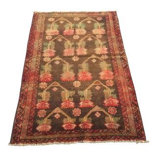 "Vintage Turkish Oushak Rug - 2'10""x4'9"""
