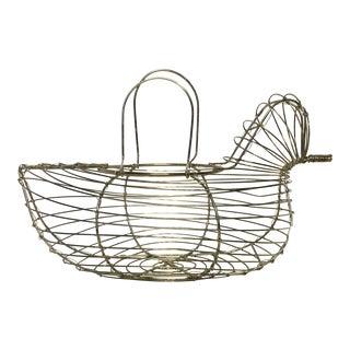 Wire Hen Chicken Egg Basket