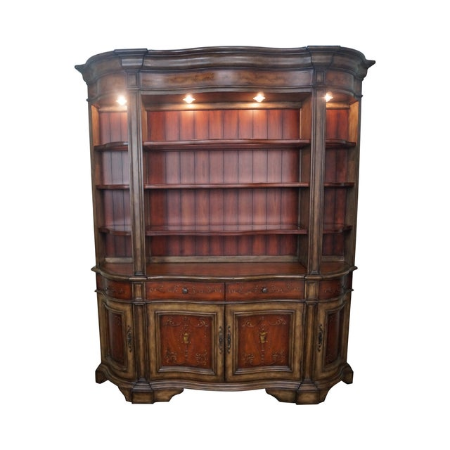 Hooker Serpentine Hutch-Style Credenza - Image 1 of 9