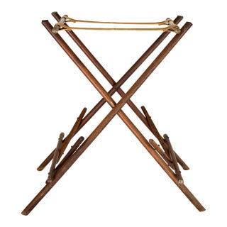 Wood and Leather Luggage Rack