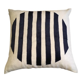 Beige & Navy Pillow Cover