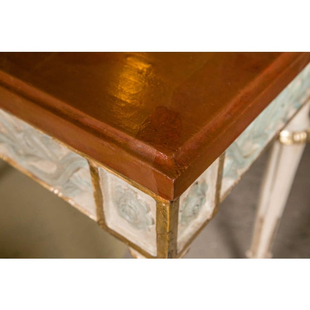 Swedish Paint Decorated Console Tables - A Pair - Image 3 of 8
