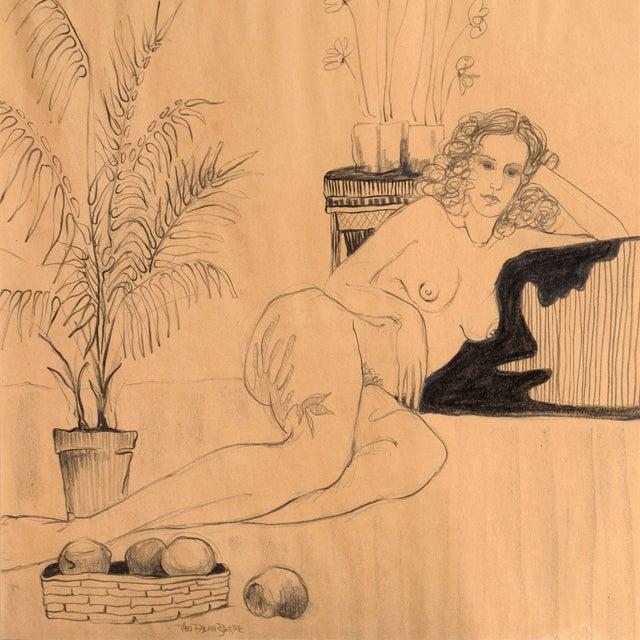 Fabian Becker Reclining Nude Drawing - Image 2 of 6