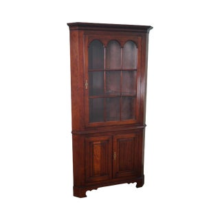 Statton Old Town Chippendale Style Solid Cherry Corner Cabinet