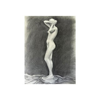 Female Nude Figure Drawing by V. Costello