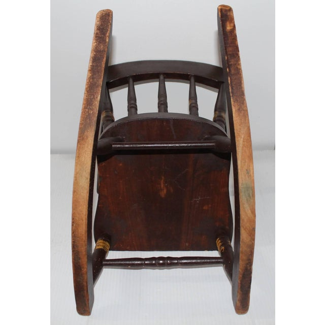 19th Century York County Pennsylvania, Original Painted Child's Rocking Chair - Image 8 of 9