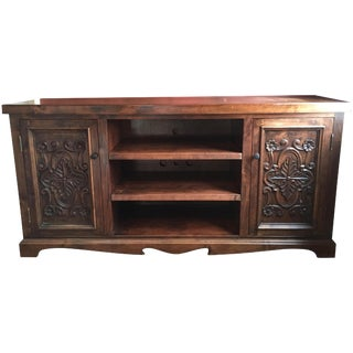 Hand-Carved Entertainment Center