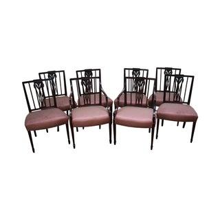 1940s Mahogany Hepplewhite Dining Chairs -Set of 6