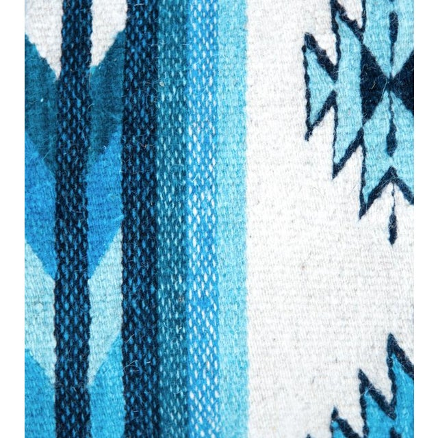 Image of Blue Oaxaca Wool Pillow